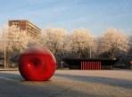 46 Theo Boddeus Kunst en rijp op de rotonde