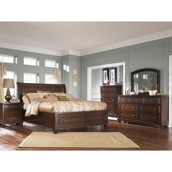 porter 5 piece bedroom set b697-5pcset | ashley furniture | afw