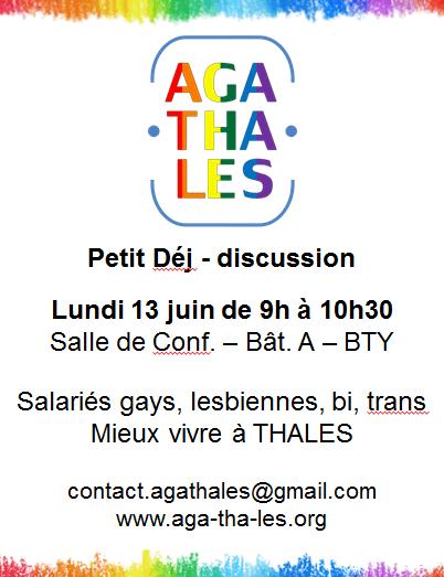 affiche du 13 juin sur le site THALES Brétigny