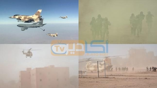 """مناورات """"الأسد الإفريقي"""".. محاصرة متطرفين بصدد ارتكاب هجمات ارهابية ضواحي أكادير (صور)"""