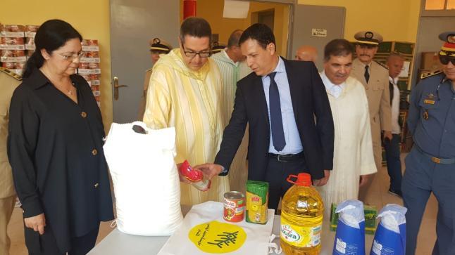 والي الجهة يعطي انطلاقة توزيع 4400 قفة رمضانية بإقليم أكادير إداوتنان