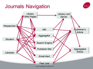 journals navigation