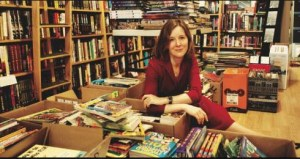 Ann Patchett in her bookstore