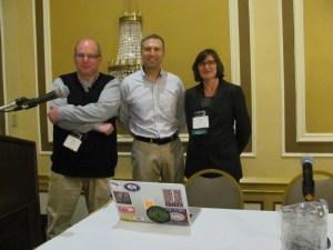 (L-R) Gary Price, Rick Anderson, Maria Bonn