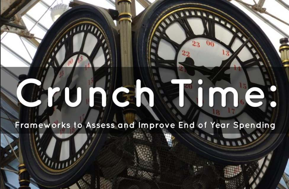 Free Webinar – Crunch Time: Frameworks to Assess and Improve End of Year Spending