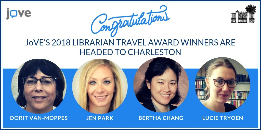ATG Newsflash: JoVE awards travel grants to global contest winners to attend Charleston Library Conference
