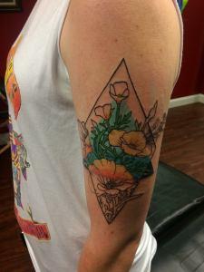 geometric_flower_tattoo