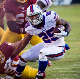 LeSean McCoy should be valued higher in the 2018 fantasy football draft. Flickr/Keith Allison