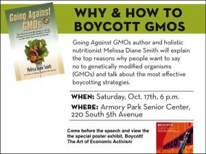 Boycott GMOs event