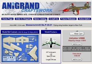 Anigrand Craftswork releases 1/144 scale Messerschmitt Me.P.08-01
