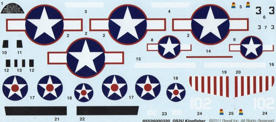 The decal sheet.