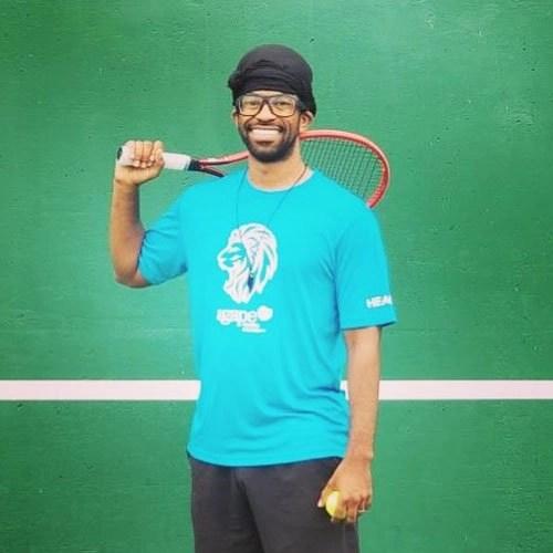Coach Daniel Fontenot at Agape Tennis Academy at the Fountain Valley Tennis Center