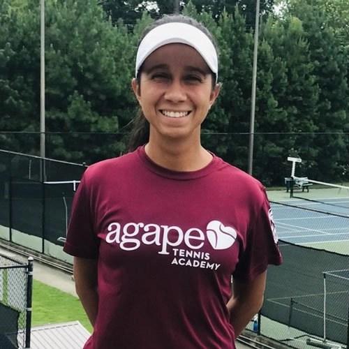 Coach Joyce Bitaraes at Agape Tennis Academy at Hillbrooke Tennis Center