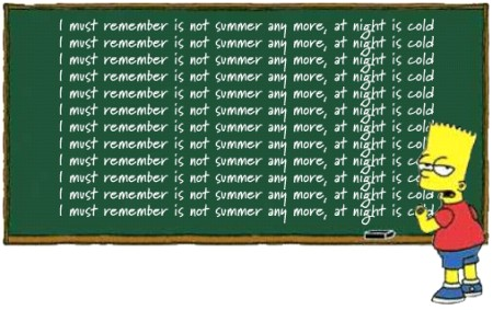 Bart Chalkboard English