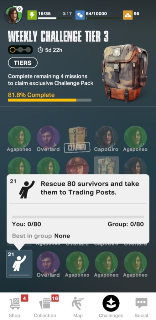 TWD: Our World weekly challenge mission