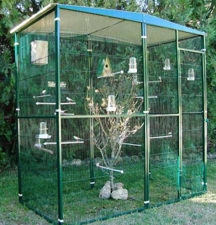 modelo jaula aviario exterior para agapornis