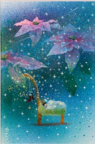 天使のクリスマス - 夢(墨・アクリル 2号)