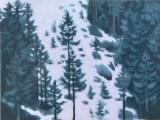 雪の後(木版画)