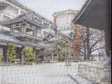 東長寺の庭(六角堂より)