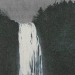 千住博「滝 崖の木」(リトグラフ)