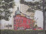 旧日本生命館 文学館(右 水鏡天満宮)
