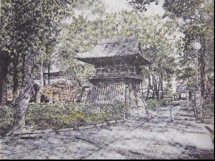 吉川幸作「聖福寺 鐘楼 」
