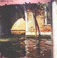 リャド「ベニスの運河」(シルクスクリーン)