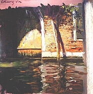 ベニスの運河(シルクスクリーン)