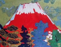 めでたき赤富士「めでたき富士の図」