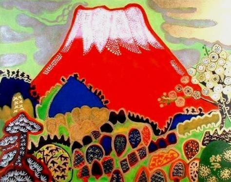 早春の赤富士
