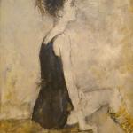 ジャン・ジャンセン「黒いチュニックの小さな踊り子」(油彩8号)