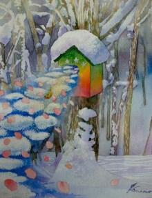 $画廊アガティのブログ-小島加奈子≪コロボックルの島から3≫