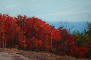 View from Oberg Mountain by Duluth landscape artist Alberta Marana.