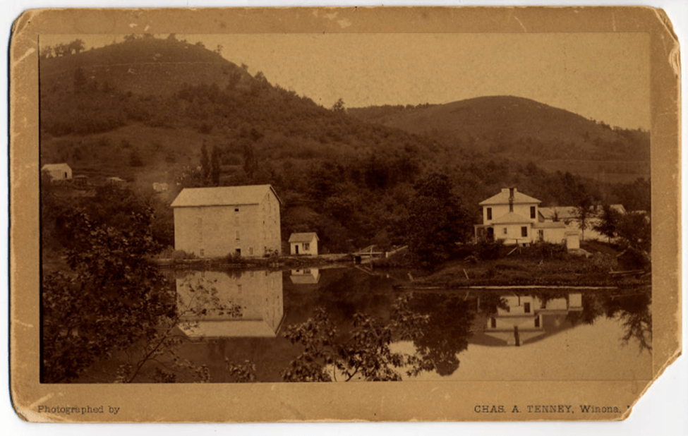 Pickwick Mill and Mill Pond 1890. Photo: Winona Historical Society