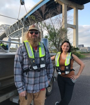 acob Ogorek and Sarah Janssen are part of a multi-agency team studying mercury bioaccumulation in the St. Louis River. Photo: Stephanie Hemphill