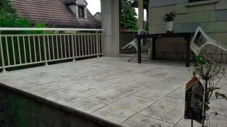 Terrasse réalisée par AG-Bat Maçonnerie