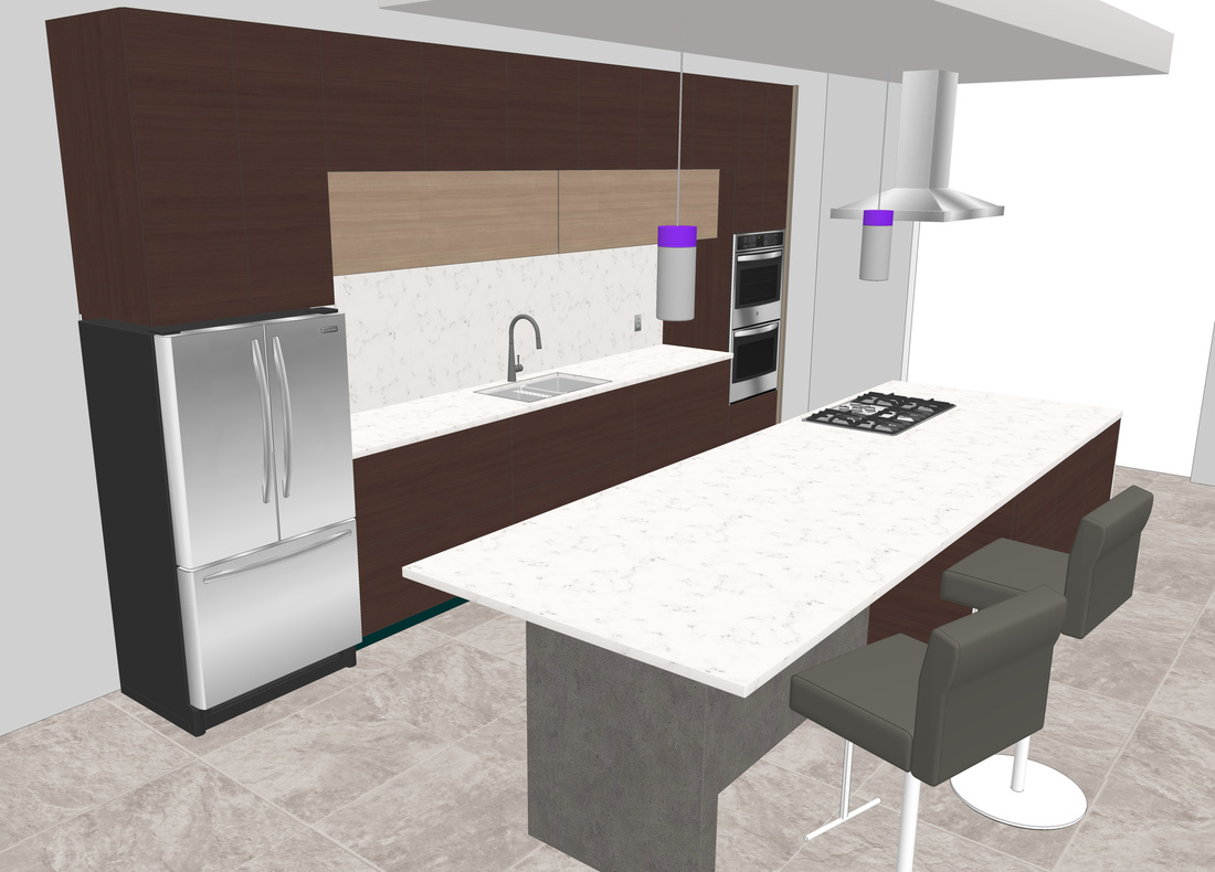 Interior Modern Kitchen Free 3D Model - USA Architectural ... on Modern Model Kitchen  id=25117