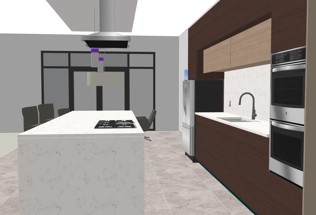Interior Modern Kitchen Free 3D Model - USA Architectural ... on Modern Model Kitchen  id=59877