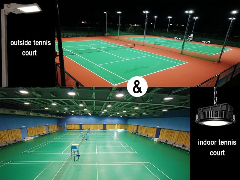 sports lighting take tennis court