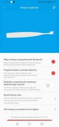 Aplikacja Oclean główne menu i ustawienia (3)