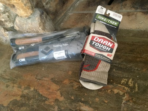 Appalachian Trail trekking poles socks