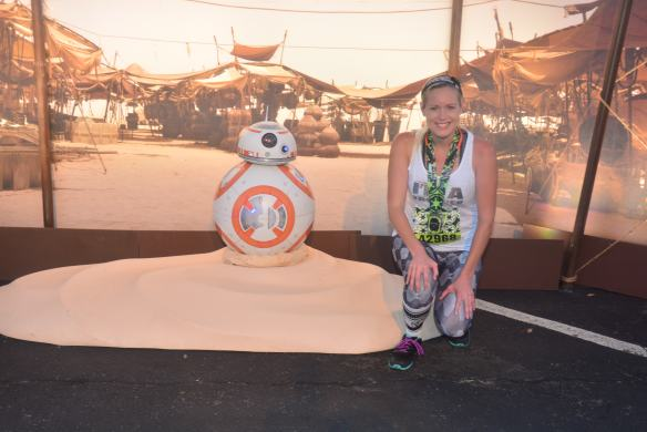 rundisney 2017 star wars 5k bb8