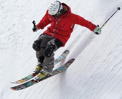 Dangerous ski sport.