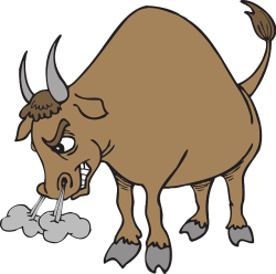 Bull, the symbol of the stock market uptrends