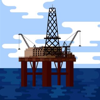 Crude Oil Offshore Platform