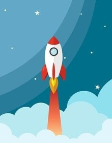 """Rocket. """"To the moon"""" price movement is the dream of crypto-holders"""