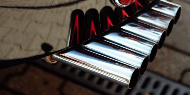 Exhaust, catalytic converter contain rhodium.