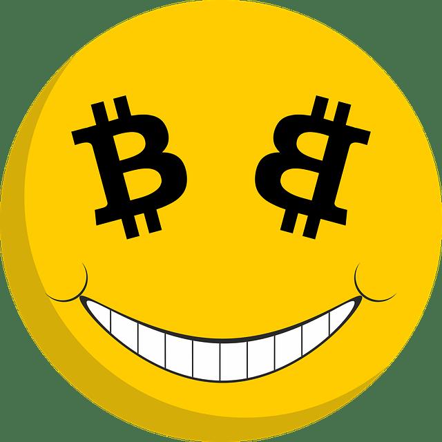 Bitcoin-eyes smiley