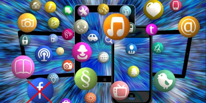 Icons of alternative social media sites and apps