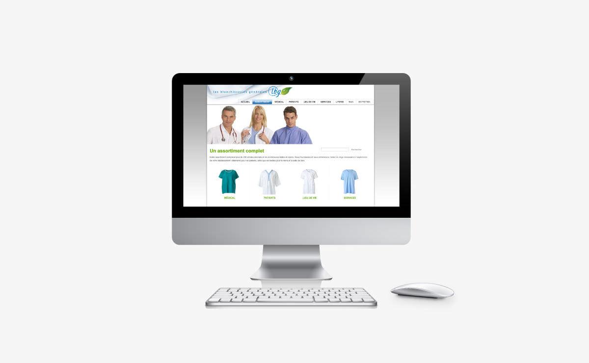 Création du site internet des Blanchisseries Générales LBG SA à Yverdon et Montreux (Vaud)